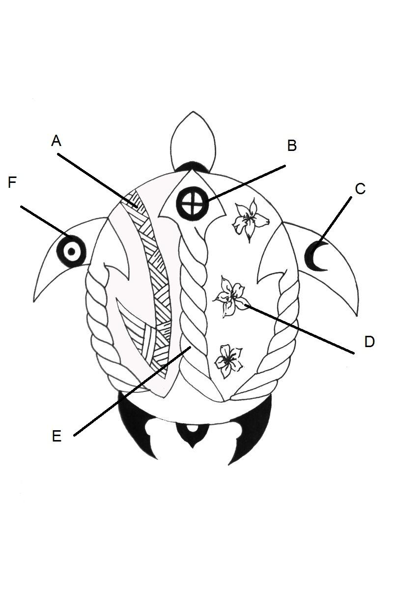 Symbolism wiki loves sea turtle monuments a this tribal hook represents the threats to which sea turtles are exposed to as a result of human activities among others injuries caused by fishing biocorpaavc Choice Image